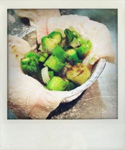 bauletti di sogliola con asparagi al profumo di tartufo