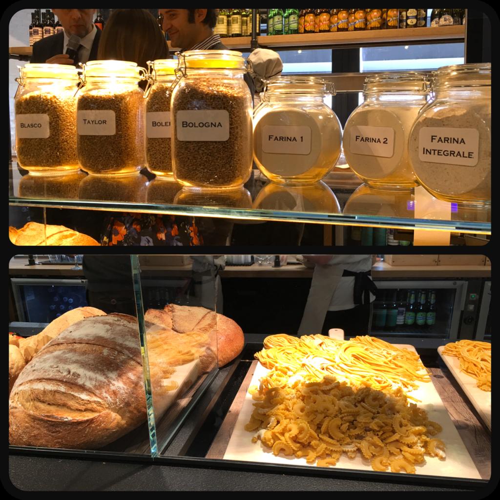 pane e farine al Bistrot Autogrill di Fiorenzuola d'Arda